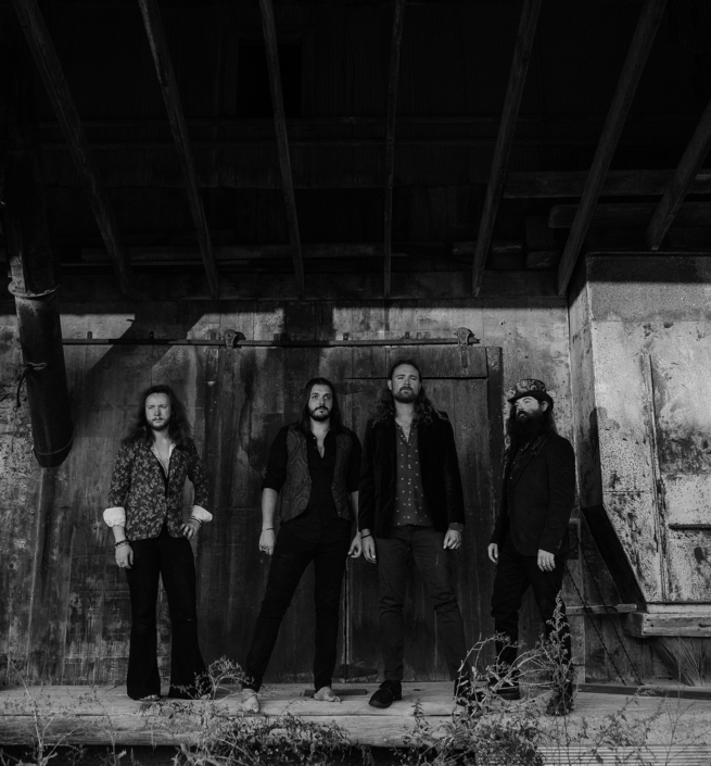 Gasoline Gypsies Black and White Band Photo Full Width